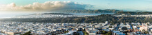 Panoramic View Of San Francisco From Golden Gate Heights.