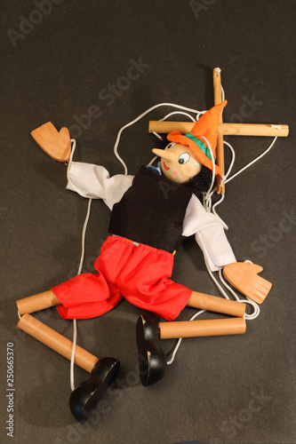 Photo  puppet with strings