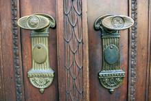 Intarsio Antico Su Maniglie E Porta