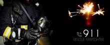 Rescue Firefighter Man. Firema...