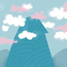 A Profile-shaped Mountain Surr...