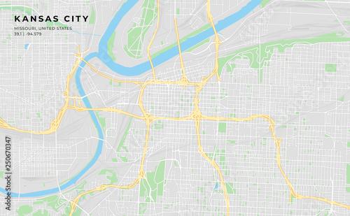 picture regarding Printable Map of Kansas identified as Printable road map of Kansas Metropolis, Missouri - Obtain this