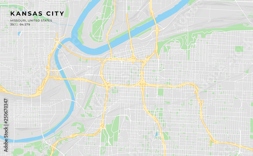 photograph about Printable Map of Kansas identified as Printable highway map of Kansas Metropolis, Missouri - Get this