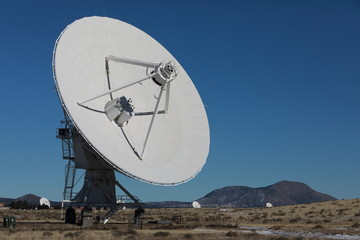 Radiotelescopes at the Very Large Array, the National Radio Observatory in New Mexico ,USA