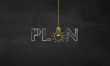 Chalk Bulb Words - Plan