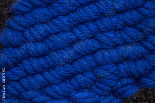 Fotografia  Arrière plan maille tricotée en grosse laine