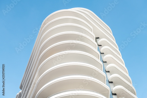 Architecture, exterior facade abstract view of modern