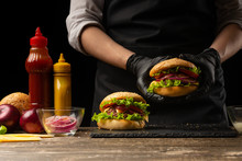 The Chef Prepares A Burger, A ...