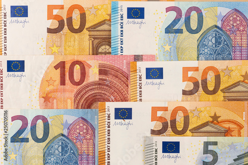 European Bank Notes Euro Currency From