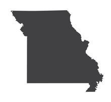 Vector Missouri Map Silhouette...