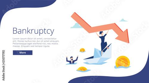 Fotomural Bankruptcy vector illustration
