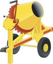 Cement Mixer Vector Illustration