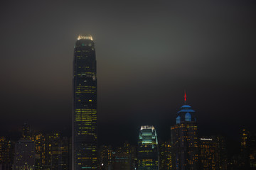 Hong Kong Island, night skyline