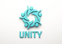 Unity People Group. 3D Render ...