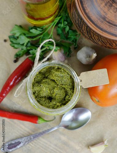 Foto auf AluDibond Aromastoffe sauces in bottles