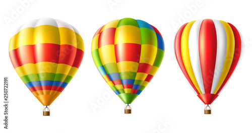 Carta da parati Vector hot air balloon colorful set isolated