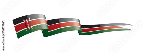 Photographie Kenya flag, vector illustration on a white background