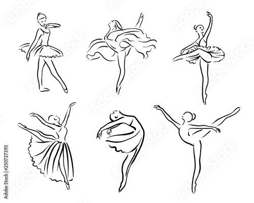 Artistic hand drawn pictures set of theatre theme Fototapete