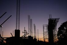 Silhouette Of Under Constructi...