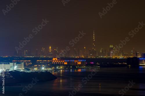 Dubai by night. Canvas Print