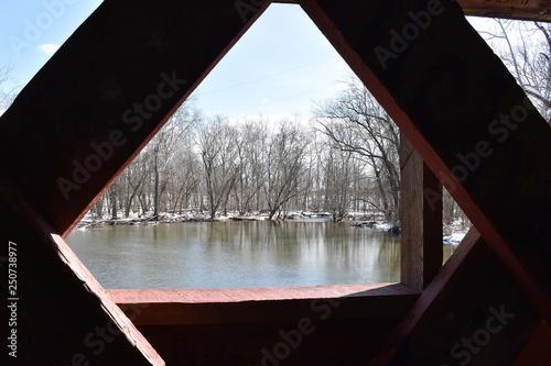 Fototapeta A view from a bridge obraz na płótnie
