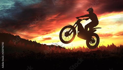 Fotografía  Motorbike trial rider
