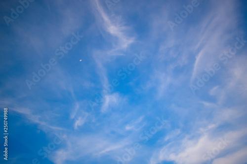In de dag Ochtendgloren blue sky and white cloud background,air cloud backdrop