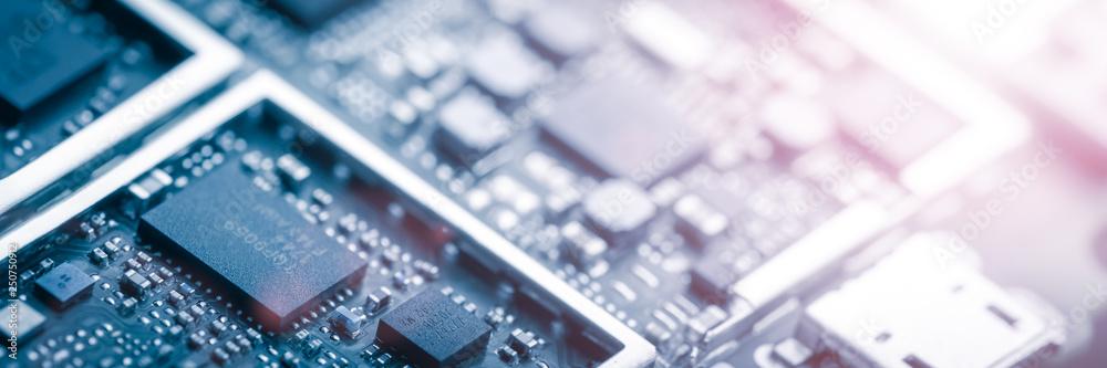 Fototapeta Modern Circuit Board Background Banner
