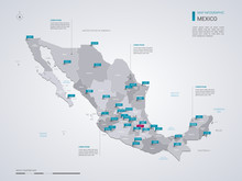 Mexico Vector Map With Infogra...