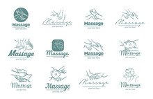 Vector Logo Of  Massage Process  Illustration On White Background