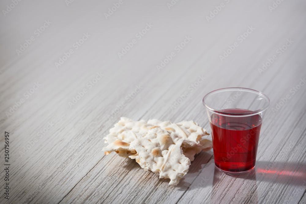 Fototapeta Communion Bread and Cup