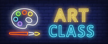 Art Class Neon Text With Palet...