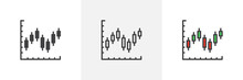 Candlestick Chart Icon. Line, ...