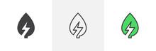 Green Energy Icon. Line, Glyph...
