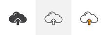 Upload Cloud Arrow Icon. Line,...