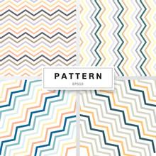 Set Of Chevron Patterns Pastel...