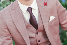 Man In Vintage Suit With Handkerchief, Fashion And Style Concept
