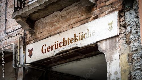Photo Schild 383 - Gerüchteküche