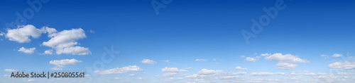 Fotografie, Obraz  Panorama - Blue sky and white clouds