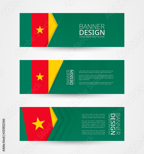 Set Of Three Horizontal Banners With Flag Of Cameroon Web Banner Design Template In Color Of Cameroon Flag Buy This Stock Vector And Explore Similar Vectors At Adobe Stock Adobe Stock