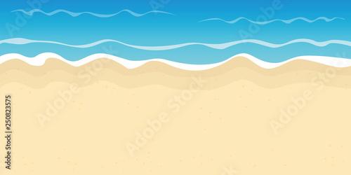 Carta da parati sandy beach and water summer holiday background vector illustration EPS10