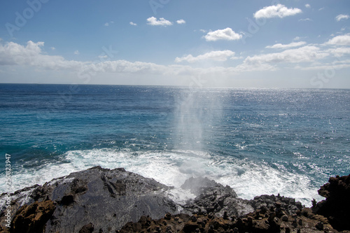 Halona Beach Cove blowhole Fototapet