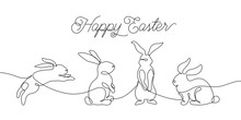 Easter Bunny Greeting Card In ...
