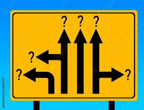 Vászonkép confusion uncertainty