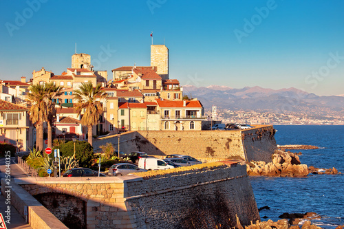 Antibes historic old town seafront and landmarks view Wallpaper Mural