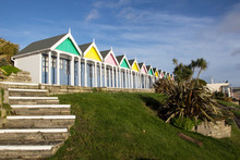 A Row Of Beach Huts At Weymout...