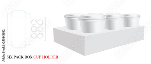 Cup Holder Template Vector With Cut Laser Layers Coffee