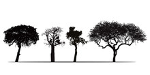 Set Of Silhouettes Of African ...