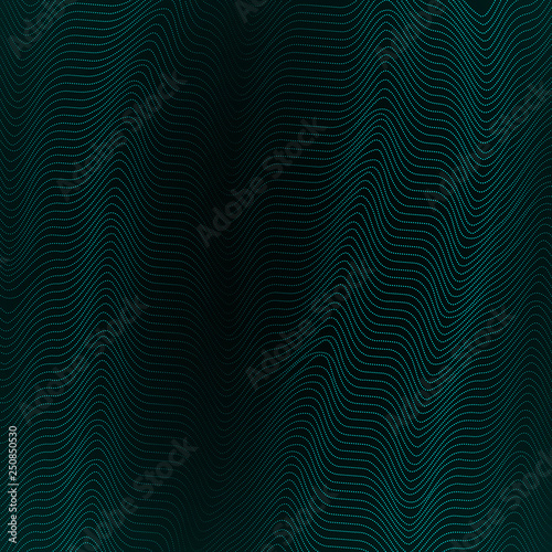 Fotografie, Obraz  Abstract background with wavy lines of waveform Dynamic pattern of lines stripe