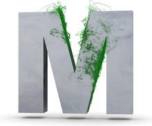 Concrete Capital Letter - M Fr...